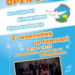 Open dag 2e woensdag in februari | Kinderkoor Give us Peace