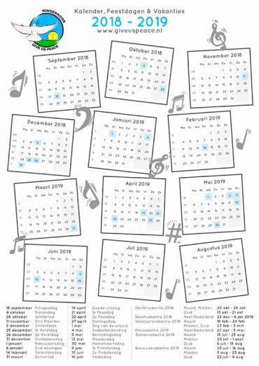 Kalender 2018 – 2019