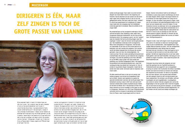 PR8Veld het dorpsblad van Hollandscheveld februari 2018 - Kinderkoor Give us Peace