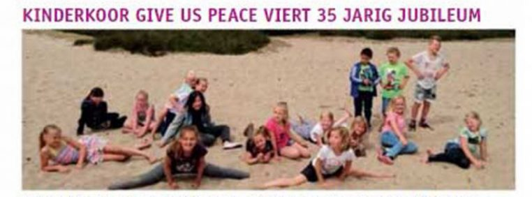 Kinderkoor Give us Peace in PR8Veld november 2016